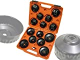 BERGEN Professional 16 Piece Cup Type Oil Filter Wrench Set BER3026