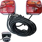 REAR LIGHT LED LAMP MAGNETIC BASE WITH 7.5M CABLE TRAILER TOWING BOARD CARAVAN