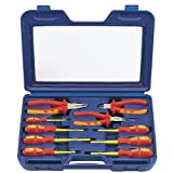 Draper expert 71155 10-Piece Set of VDE Insulated Pliers and Screwdrivers