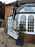 Henchman Senior Aluminium Hi-Steps Garden Ladder - Made in Britain - BS EN131 Standards - Professional Trade Quality Ladders by Henchman