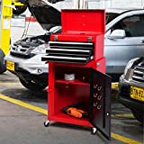 Costway Rolling Tool Chest Box Toolbox Cabinet Storage Drawer Garage Mechanic Red
