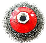 Disc brush, diameter 100for angle grinder, m14wire cup brush, twist knot brush