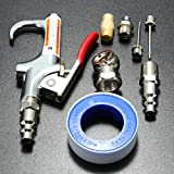 Alamor 9Pcs Compressor Air Duster Compressed Air Nozzle Blow Gun Kit Blower Cleaning Tool B Version
