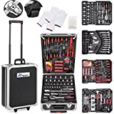 TRESKO Tool Box with 735 Pcs Hand Tools Trolley Mechanic Household Toolbox Kit Set Case Cart on Casters Wheels