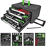 TecTake Tool Set Trolley Tool Box With 4 Drawers, 300 Piece