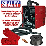 Sealey MIGHTYMIG100 Professional No Gas Mig Welder 100 amp 230v Gasless inc Wire and Gaunlets