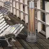 Feifeiyo 1 x Electric Outdoor Heating 900W on Garden, Patio, Terrace, Gazebos, Garages and Interior, Size: 27 x 82cm, Silver